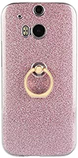 Fitted Cases - Holder Glitter Ring Soft Silicon Case for for HTC One M8 Case for for HTC M8/M8S Case Soft TPU Back Cover f...