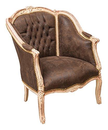 Biscottini sillón Estilo Francés Luis XVI de Madera Maciza de Haya Ancho X pr82X Altura CM