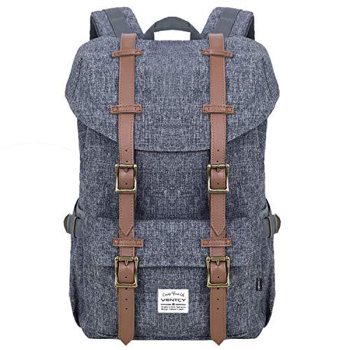 VENTCY Mochila Hombre Mujer Casual Escolar Mochila Portatil 15 Pulgadas Backpack Moderna Sencillay Cremallera para Senderismo Viaje Montaña Deporte Impermeable 23L