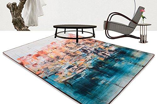 HBJP Alfombra de edad industrial, para salón, dormitorio, mesita de noche, mesa de café, manta de arte simple y moderno (tamaño: 1,4 x 2 m)
