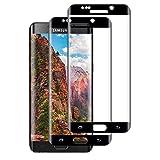 2 Unidades Protector Pantalla para Samsung Galaxy S6 Edge Cristal Templado, Dureza 9H Película Protectora de Vidrio Templado