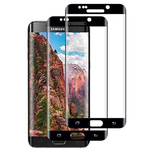 [2 Pezzi] Vetro Temperato Compatibile con Samsung Galaxy S6 Edge, HD Alta Trasparente 9H Durezza Proteggi Schermo, Qualità Elevata Resistente ai Graffi Copertura Pellicola Protettiva