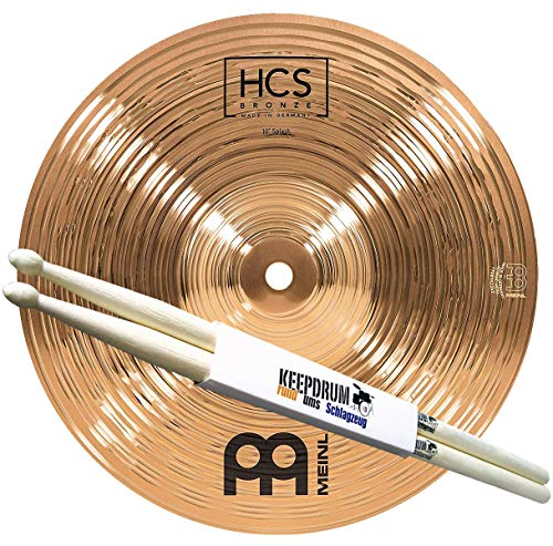 Meinl HCSB10S Bronze Splash-Becken 10 Zoll + keepdrum Drumsticks 1 Paar