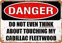 Shimaier 壁の装飾 メタルサイン ウォールアート - Do Not Touch My Cadillac Fleetwood 縦30×横40cm ブリキ看板 店舗装飾 壁面ディスプレー おしゃれ 雑貨 通販 アメリカン ガレージ