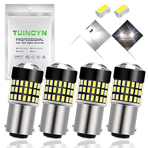TUINCYN 1157 Ampoule à LED blanche 900 Lumens 7528 BAY15D Ampoule 3014 78SMD pour feu stop Back Back Feu de recul clignotant Feu arrière 12V-24V (lot de 4)