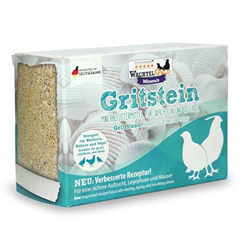 Gritstein 1kg - bewährtes Mineralfuttermittel für Wachteln, Geflügel & Vögel - jetzt neu mit verbesserter Rezeptur