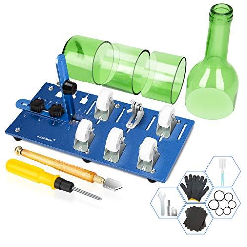 M-JJZX Cortador de botellas de vidrio mejorado, cortador de botellas de bricolaje, herramienta para cortar vino, cerveza, whisky, champán, kit completo de herramientas de accesorios