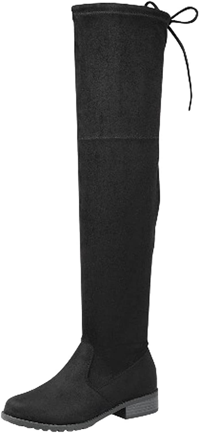Forever Link Jalen-H4 Women's Over The Knee Thigh High Flat Boot