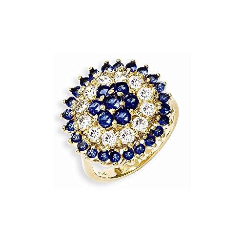 Diamond2Deal Kennedy Ring vergoldet Swarovski-Kristall Bullseye RiCocktail