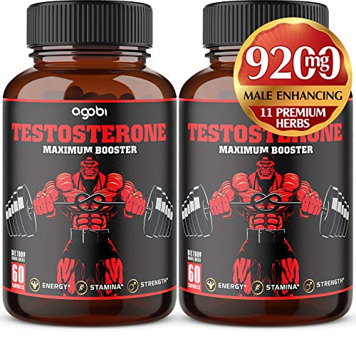 Herbal Testosterone Male Enhance Supplement - PromoteEfficiency, Speed, Strength, Flexibility, Muscular Strength, and Fat Burning - Advanced Test Level Booster for Men 9200 mg*- 120 Veggie Capsules
