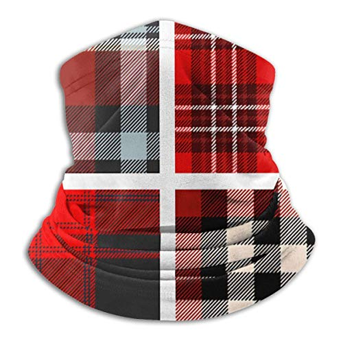 NA Set Four Tartan Plaid Unisex Winter Fleece Neck Warmer Gaiters Haarband Cold Weather Tube Face Mask Thermal Neck Scarf Outdoor UV-bescherming Party Cover