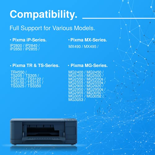 HavaTek Remanufacturados 546 XL Tricolor Cartuchos de Tinta para Canon CL-546XL compatibles con Canon Pixma IP2850 MX495 MG2450 MG2550 TS3150 MG3050 MG2550S TS305 TS205 MG2555S Impresoras (1 Pack)