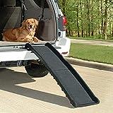 Rampa per animali domestici per auto, 152,4 x 40,6 x 10,2 cm, rampa pieghevole in ABS antiscivolo, scala nera
