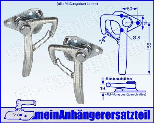 Winkelhebelverschluss Bordwandverschluss Set Bordwandverschlüsse Gr. 1