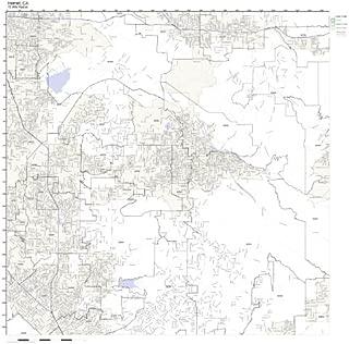 Hemet, CA ZIP Code Map Laminated