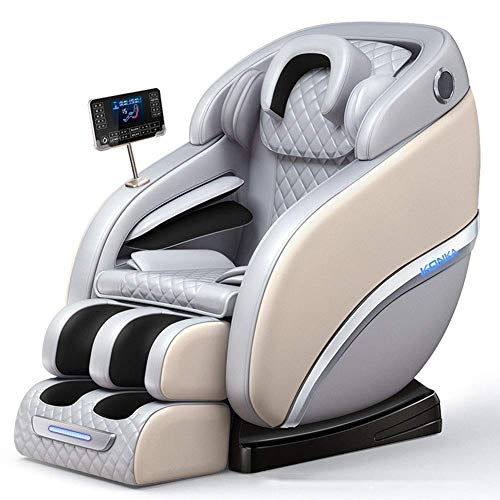 HIGHKAS Full Body Electric Zero Gravity Shiatsu Massage Chair with Bluetooth Heating and Foot Roller for Home and Office,White