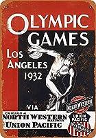 Olympics Los Angeles California メタルポスター壁画ショップ看板ショップ看板表示板金属板ブリキ看板情報防水装飾レストラン日本食料品店カフェ旅行用品誕生日新年クリスマスパーティーギフト