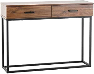 Cypress Shop Accent End Table Sideboard Table Buffet Storage Shelf Cabinet TV Stand Console Table with 2 Drawers Dinning Pantry Organizer Display Shelves Decor Home Furniture