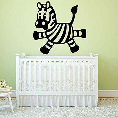 De pared de vinilo de decoración de caballo de animal de chico lindo adhesivo mural lindo Decoración del banquete de boda de la sala de estar del dormitorio de la muchacha