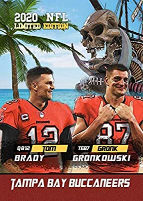 Brand New TOM BRADY and ROB GRONKOWSKI - Tampa Bay Buccaneers Novelty Football Card - TOGETHER AGAIN!