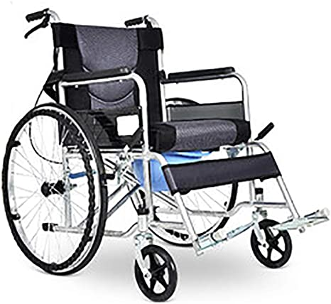 Amazon Com Yzjj Lightweight Wheelchair For Adults Medical Transport Toilet Commode Bathroom Wheelchair Bedside Locking Casters Patient Commode Wheel Chair Over Toilet