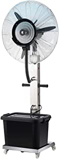 Pedestal Fans Misting Fan Oscillating Stand Cooling Fan 3 Wind Modes Pivoting Fan Head for Home Living Room Residential