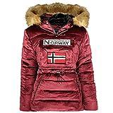 Geographical Norway, Parka - Pasamontañas para mujer con capucha, modelo Bresilian Lady, burdeos, L