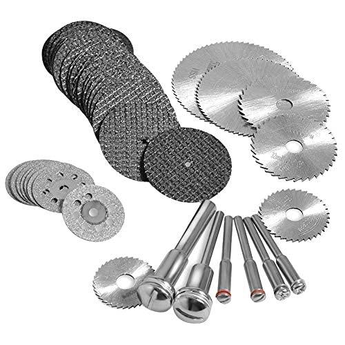 N\C Juego de 60 ruedas de discos de resina para herramienta rotativa