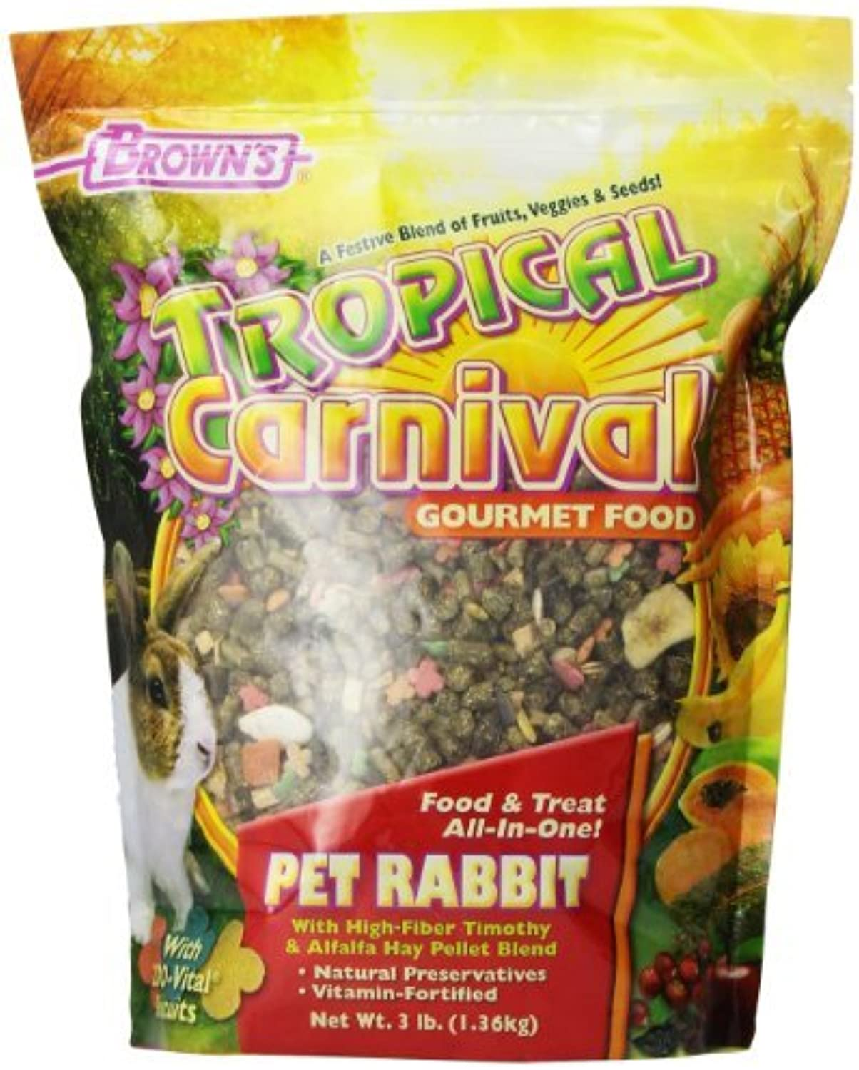 F.M. Brown's Tropical Carnival Rabbit Food, 3 lb by F.M. Brown's