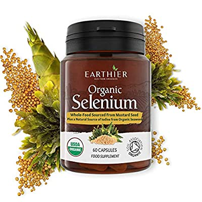 Organic Selenium 200mcg Iodine and Silica contributing to normal Thyroid and Immune function – 2 Month Supply - Whole Food Supplement - Certified Organic by Soil Association by Vitalize Foods Ltd