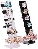 Multifunctional Caja de almacenamiento de joyas para mujer plástico plástico plato tablero plato flor cabeza titular de la cabina de la joyería de la exhibición de la joyería Cajas de joyería (color: