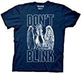 Ripple Junction Doctor Who Don't Blink Weeping Angel Covering Face Men's Navy Blue T-Shirt (Large)