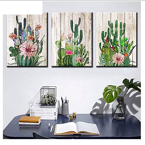 XRKHUAHUA 5D DIY Diamant Malerei Hand Kunst Kaktus Wüste Pflanze Und Dorn Blume Kreuzstich 3 Stücke Voller Platz Strass Stickerei