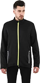 Dolcevida Men's Full Zip Long Sleeves Warm Running Top Stretchy Active Coat