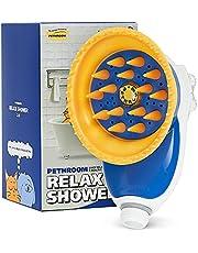 ぺスルーム(Pethroom)リラックスシャワー|ペット用シャワーヘッド|シャンプーの洗い残し解決|シャワーとマッサージを同時に|水はね防止|騒音防止でペットも安心|猫・犬兼用