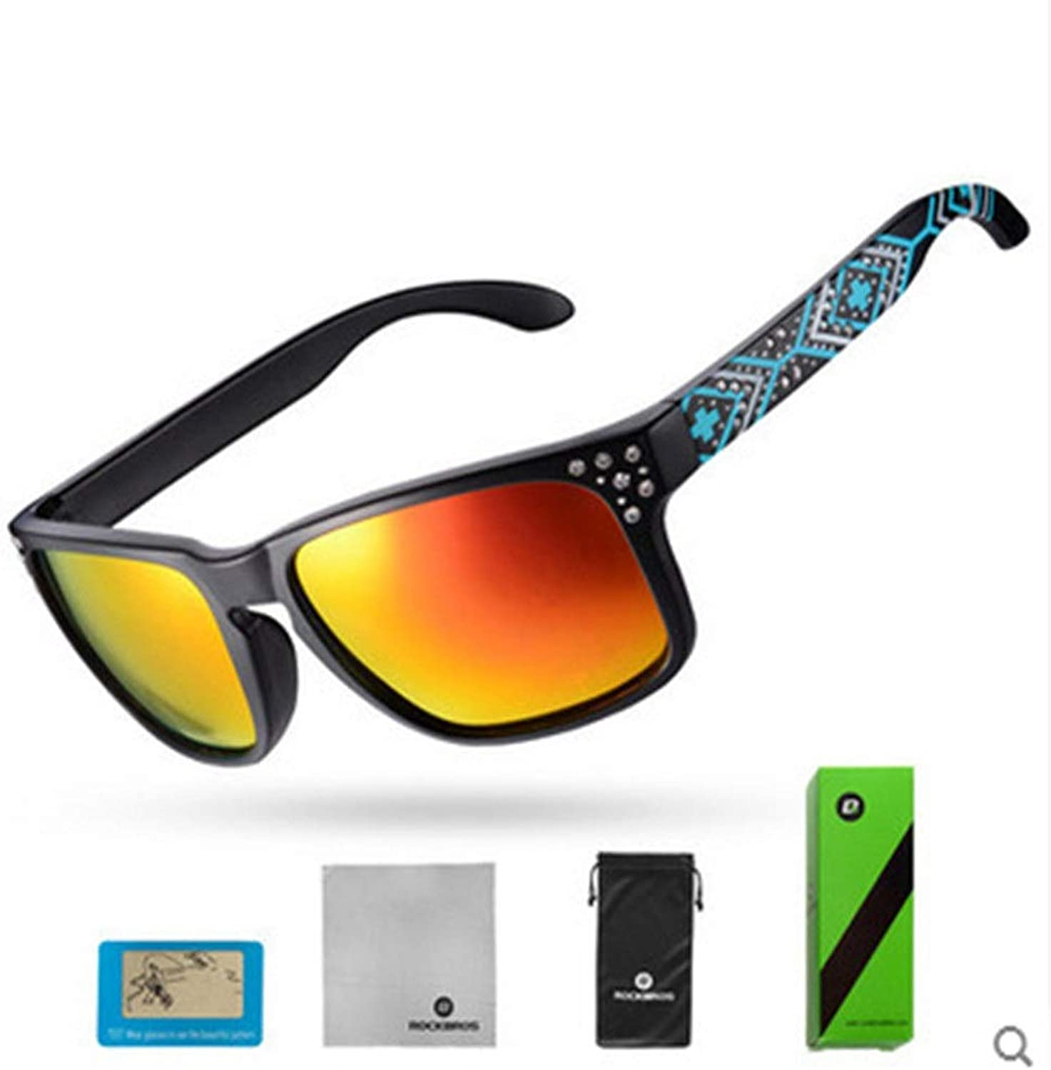 Cycling Running Glasses with Outdoor Sports Cycling Polarized Sunglasses Bikeing Outdoor Sports Glasses Men's and Women's (color   Black, Size   Free Size)