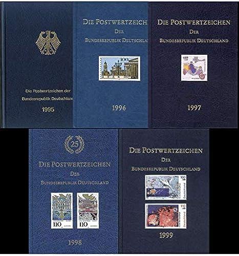 Goldhahn Set  BRD Bund Jahrbücher 1995-1999 Briefmarken für Sammler