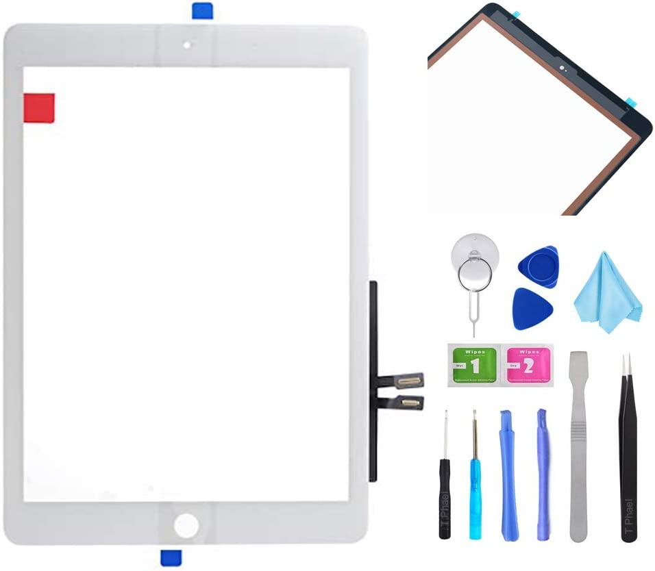 White Touch Screen Digitizer Repair Kit for iPad 9.7