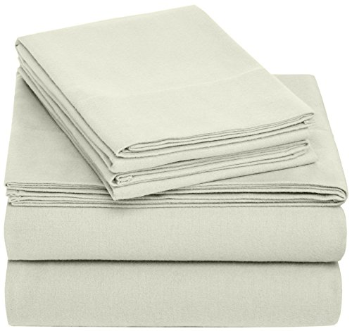Pinzon Cotton Flannel Bed Sheet Set  Twin Sage