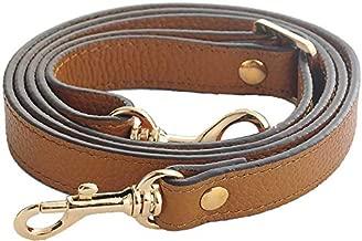 SeptCity Top Quality Grain Leather Adjustable Shoulder Straps -1.8 CM Width(20 Color)(Brown)