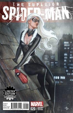 Superior Spider-Man #20 (RARE Limited Edition Comix, Black Cat, Adi Granov Variant Cover, Marvel Now) 1st Print