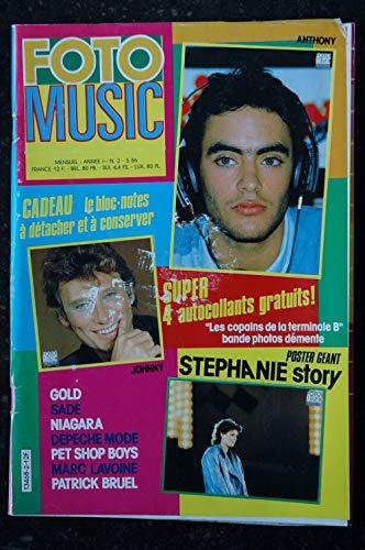 FOTO MUSIC 2 1986 JOHNNY HALLYDAY GOLD SADE NIAGARA DEPECHE MODE PET SHOP BOYS + POSTER GEANT STEPHANIE DE MONACO