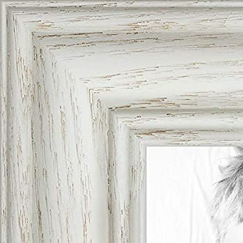 ArtToFrames 24x30 inch Off White Wash on Ash Wood Picture Frame WOM0151-59504-475-24x30