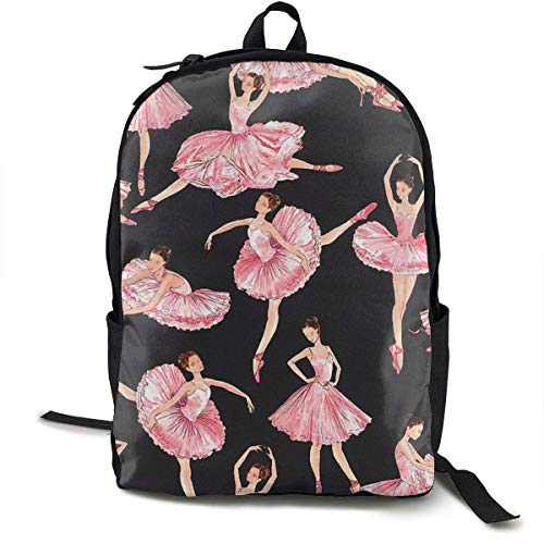 Beautiful Ballet Travel Computer Bag Laptop Backpack Unisex, School College Fits 15'' Laptop