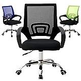 Midori Bürostuhl Schreibtischstuhl mit Netzrücken, ergonomischer Drehstuhl mit Mesh Netz Blau Grün Schwarz