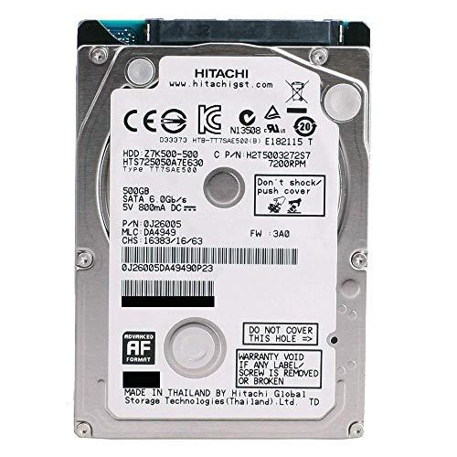 HGST Travelstar Z7K500 HTS725050A7E630 (0J38075) 500GB 7200RPM 32MB Cache SATA 6.0Gb/s 2.5-inch Internal Notebook Hard Drive - 2 Year Warranty