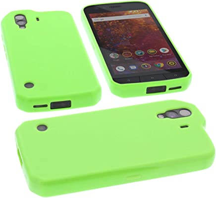 da4befb5f3 foto-kontor Protective case for CAT S61 Rubber TPU Mobile Phone Cover Green