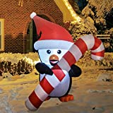 GOOSH 5Foot High Christmas Inflatable Blow ups Penguin...