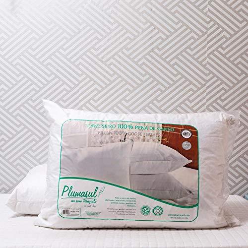 Travesseiro Pena De Ganso 233 Fios 50X70cm Plumasul