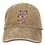 Gorra de béisbol unisex, alfabeto náutico, bandera marítima para navegar por la marina, para adultos